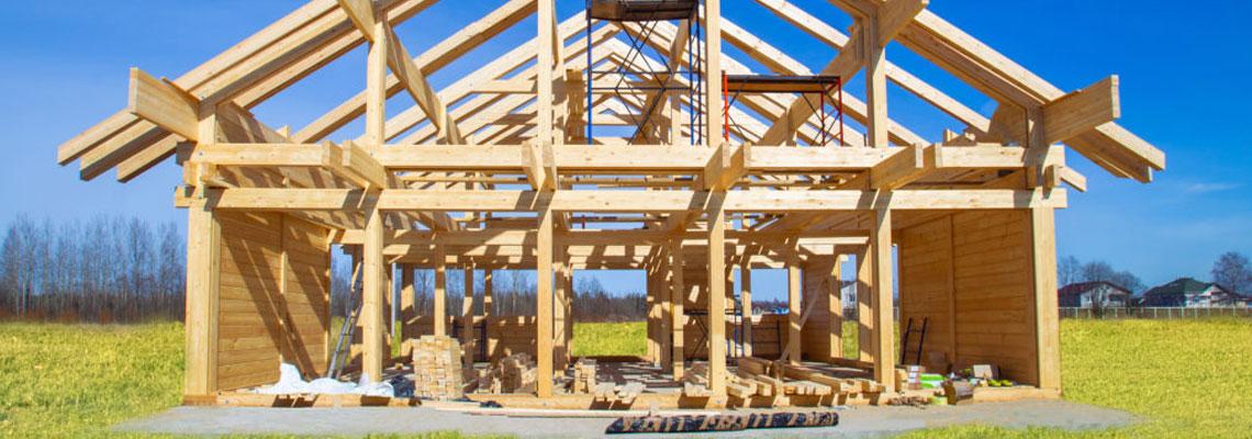 une maison à ossature en bois